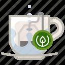 brewing, cup, tea, tea bag, tearoom, water, yumminky icon