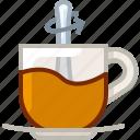 cup, drink, glass, mixing, tea, tearoom