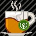 cup, drink, leaching, tea, tea bag, tearoom, yumminky icon