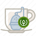 cup, filter, glass, kitchen, sifter, tea, yumminky icon