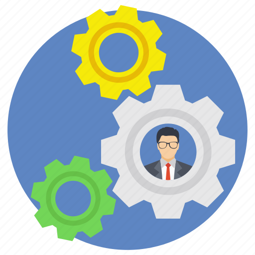 business management, business organization, business planning, business strategy, business technology icon