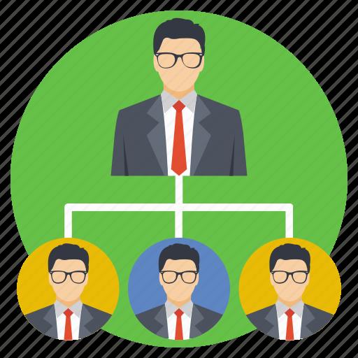 company, personnel, staff, team, team hierarchy icon
