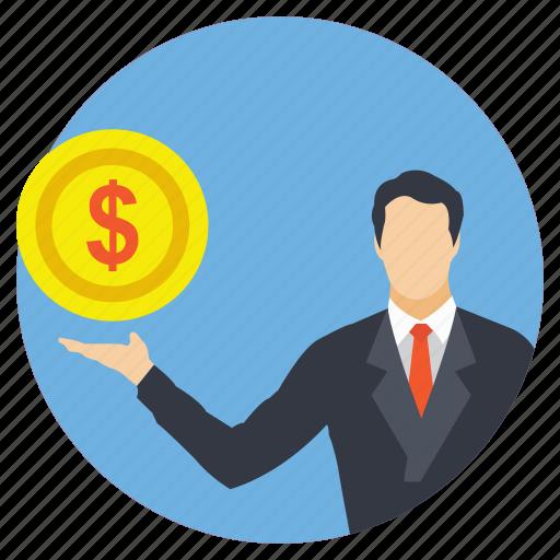 businessman, entrepreneur, financier, investor, trader icon