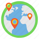 destination, global location, global positioning system, gps, world navigation icon