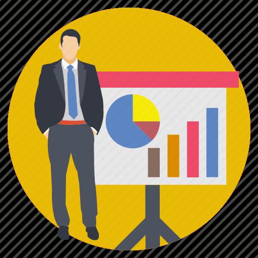 business analysis, business presentation, economic, finance, statistics icon