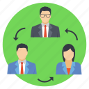 employee referral, employee replacement, employee retention, employee turnover, team management icon