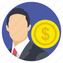 businessman, trader, investor, entrepreneur, financer icon