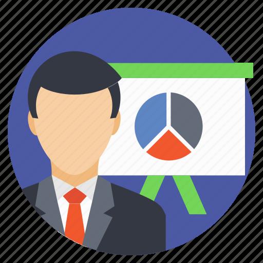 accountant, analyst, analyzer, business analyst, business presentation icon