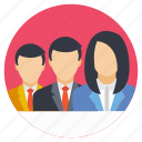 business team, colleague, group, people, staff icon