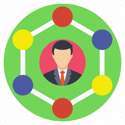 professional connections, professional links, professional network, social connections, social network icon