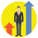 career growth, employee development, employee growth, employees promotion, job promotions icon