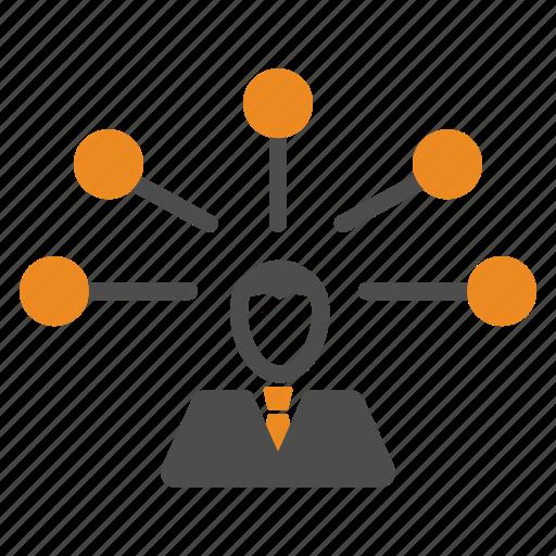 network, team, teamwork, users icon