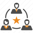 outstanding, rating, star, team, teamwork, users icon