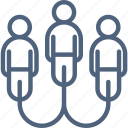 connect, connected, design, online, peoples, team, ux icon