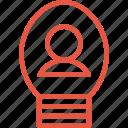 avatar, brilliant, concept, idea, lightbulb icon