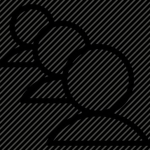 avatar, team, teamwork, three user icon