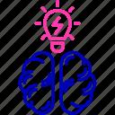 brain, brainstorming, creativity icon, education, idea
