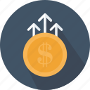 business, coins, money, payment, profit, profits icon