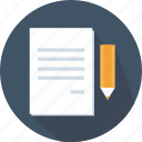 archive, document, file, interface, pen, pencil, write icon