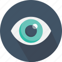 eye, interface, medical, miscellaneous, view, visibility, visible icon