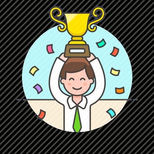 achievement, award, celebration, medal, prize, reward, teamwork, winner icon