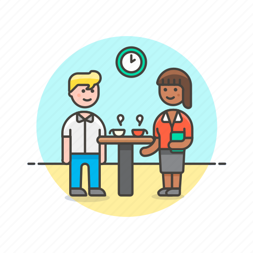 break, business, discussion, group, office, people, team, work icon