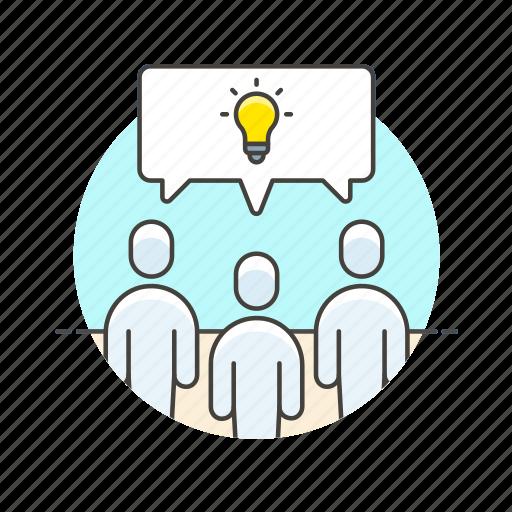 brainstorm, business, group, idea, office, people, team, work icon