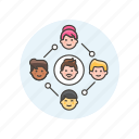 business, connect, group, leader, people, team, work icon