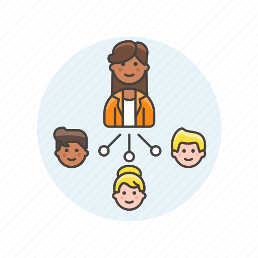 Leader, team, business, connect, group, people, work icon - Download on Iconfinder