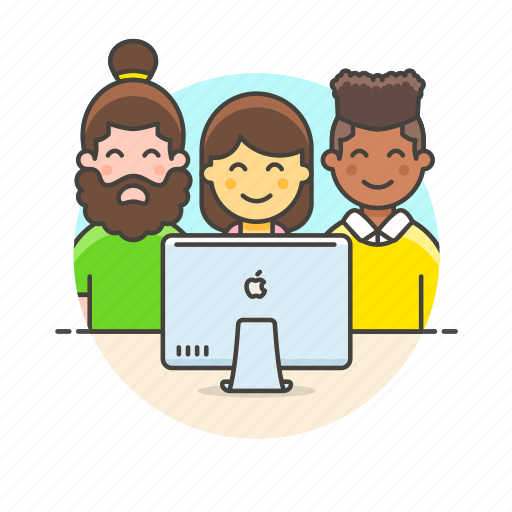 business, group, imac, leader, office, people, team, work icon