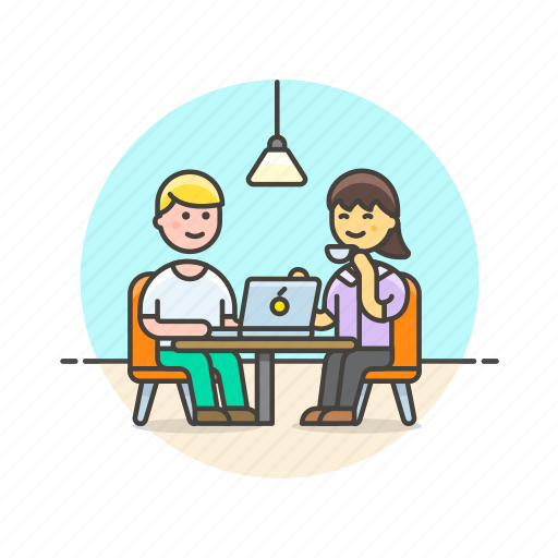 apple, business, group, meeting, office, people, team, work icon