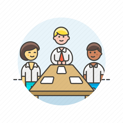 business, conference, group, meeting, office, people, team, work icon
