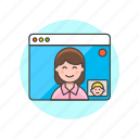 call, teamwork, video icon
