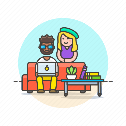business, environment, group, home, people, relax, work icon