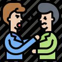 argument, communication, conflict, deal, disagree icon
