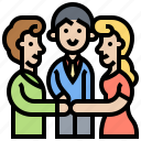 colleague, corporation, coworkers, teamwork, unity icon