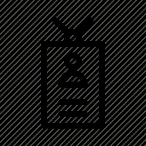 card, id, organization icon, profile icon