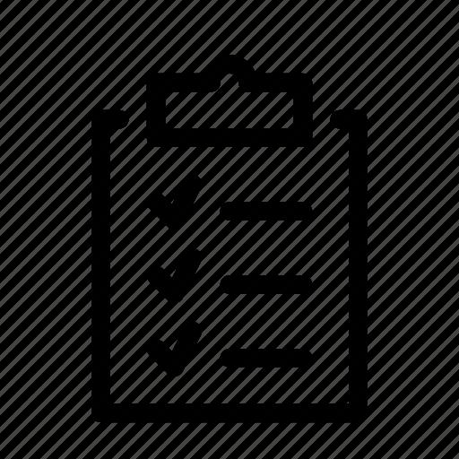 Clipboard list organization icon planning icon
