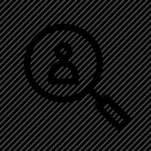 organization icon, search, user, view icon