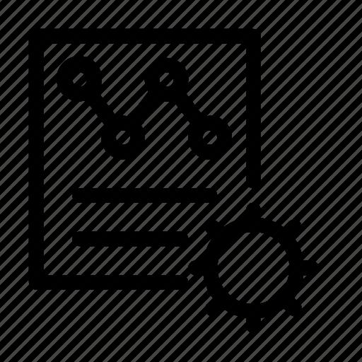 analysis, data, organization icon, setting icon