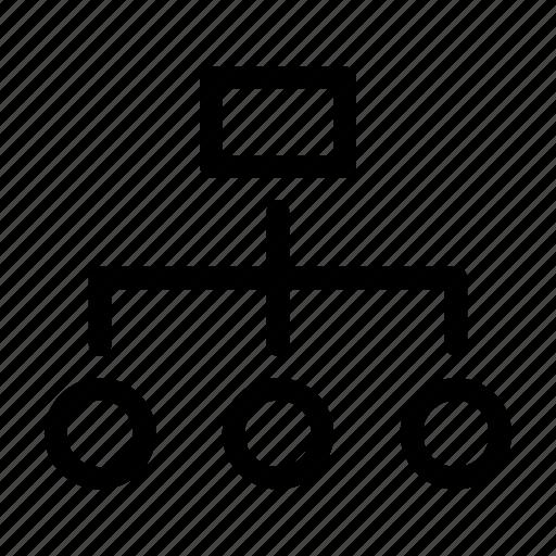 hierarchy, organization icon, structure icon