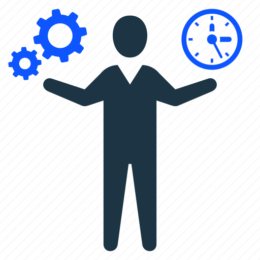 gear, man, management, productivity, setting, time icon