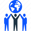 business, global, man, success, team, teamwork icon