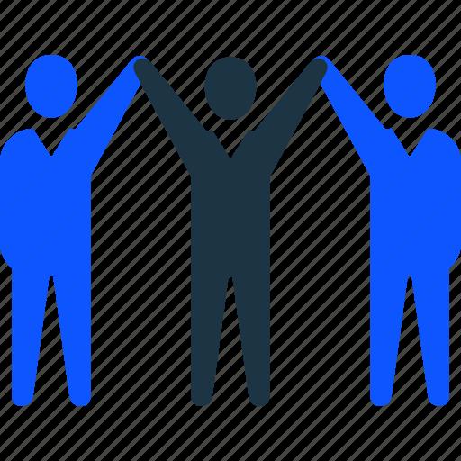businessman, leader, management, success, team, teamwork icon