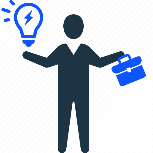 brainstorming, business, businessman, idea, strategy icon
