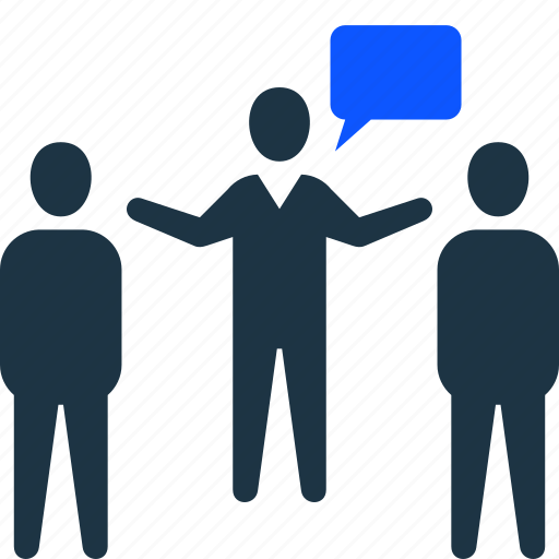 communication, conversation, coworking, group, manager icon