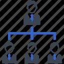 boss, hierarchy, leader, leadership, management, team, teamwork icon