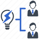 brainstorming, business team, creative, idea, solution, team, teamwork icon