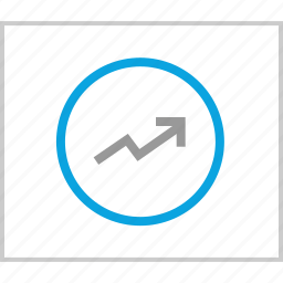 analytics, arrow, up, web icon
