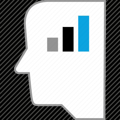 bars, data, graphic, think icon